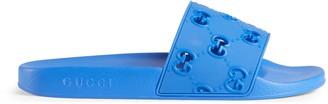 Gucci Men's rubber GG slide sandal