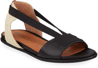 Gentle Souls Lark Elastic-Strap Leather Sandals