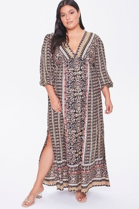 Forever 21 Plus Size Ornate Maxi Dress