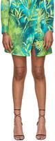 Versace Green Jungle Skirt