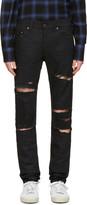 Saint Laurent Black Original Low Waisted Skinny Jeans