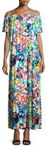 Rachel Pally Ossi Printed Off-the-Shoulder Maxi Dress