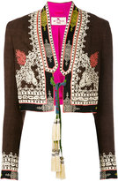 Etro tassel tie cropped jacket - women - Silk - 40