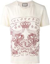 Gucci Loved crest print t-shirt - men - Cotton - S