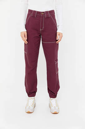 BDG High-Waisted Cargo Jogger Jean Maroon
