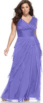 Adrianna Papell Plus Size Tiered Empire Gown