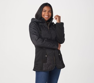 Susan Graver Water Resistant Mixed Media Jacket