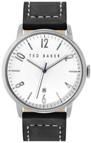 Ted Baker Round Leather Strap Watch, 42mm