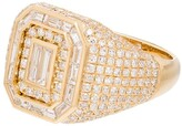 Shay Champion 18kt yellow gold diamond signet ring