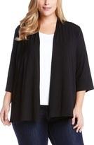 Karen Kane Plus Size Women's 'Molly' Open Jersey Cardigan