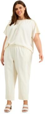 Alfani Plus Size Straight-Leg Pants, Created for Macy's