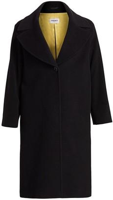 Cinzia Rocca, Plus Size Wool & Cashmere-Blend Envelope-Collar Coat