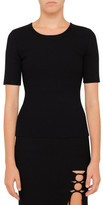 Alexander Wang Crew Neck Top With Back Slit Lacing