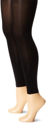 Muk Luks Women's Footless Tights 2 Pair Pack