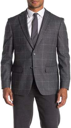 Tommy Hilfiger Grey Windowpane Stretch Fit Suit Separate Sport Coat