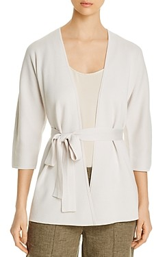 Eileen Fisher Silk & Organic Cotton Belted Cardigan