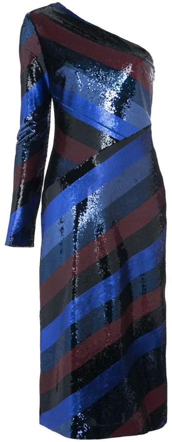 Diane von Furstenberg one shoulder bias sequin dress