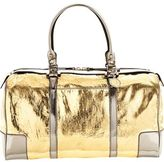 Large Peplum Bag- Gold / Silver