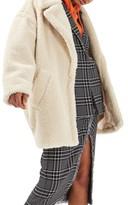 Topshop Women's Borg Cocoon Coat