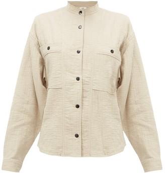 Etoile Isabel Marant Barney Cotton-blend Cheesecloth Shirt - Womens - Khaki