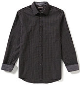 Michael Kors Jace Tailored-Fit Long-Sleeve Checked Woven Shirt