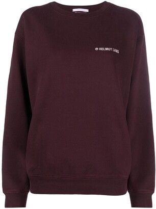 Helmut Lang Embroidered-Logo Cotton Sweatshirt