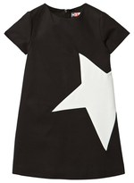 MSGM Black Star Applique Woven Dress
