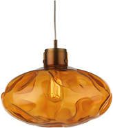 Heathfield & Co Leoni Amber Antique Brass Pendant Lamp
