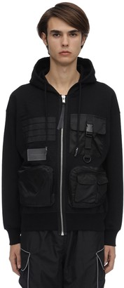 Ziq & Yoni Zip-Up Cotton Jersey Sweatshirt Hoodie