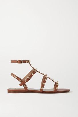 Valentino Garavani Rockstud Leather Sandals - Brown