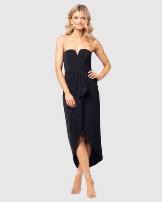 Pilgrim Women's Black Midi Dresses - Marlow Gown - Size One Size, 8 at The Iconic