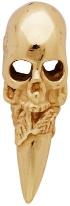 Emanuele Bicocchi Gold Single Skull Stud Earring