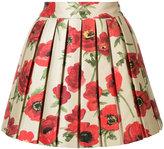 Alice + Olivia Alice+Olivia floral metallic skirt
