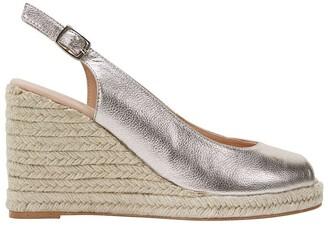 Jane Debster Dakota Soft Gold Metallic Crush Sandals