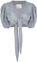 Lisa Marie Fernandez pouf tie cropped blouse