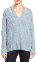 Rebecca Minkoff Women's 'Draco' Waffle Knit Shoulder Cutout Sweater