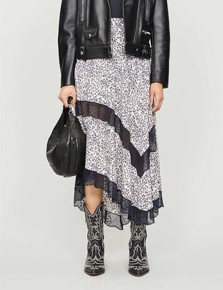 Zadig & Voltaire Juliet floral-print crepe midi skirt