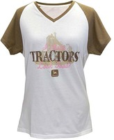 John Deere Brown 'I Make Tractors Look Good' V-Neck Raglan Tee - Plus Too