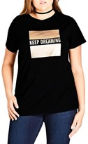 City Chic Plus Size Women's Dreaming Graphic Tee