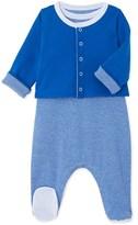 Petit Bateau Baby boy cardigan and sleepsuit set