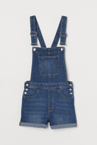 H&M Denim Overall Shorts - Blue