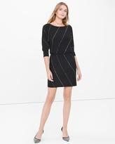 White House Black Market Black Embellished Blouson Dress