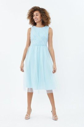 Coast Tulle Ruched Bodice Midi Dress