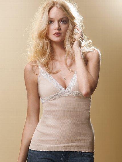 Victoria's Secret Kiss Tees Lace-trim Cami