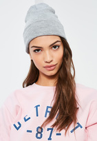 Missguided Grey Classic Beanie