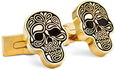 Robert Graham Goldtone Skull Cuff Links