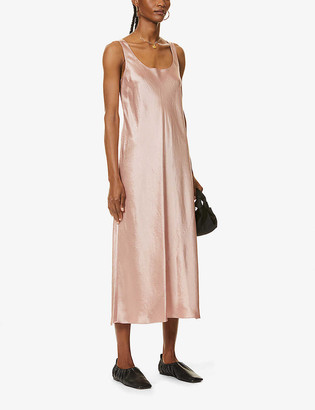 Vince Scoop-neck satin maxi dress