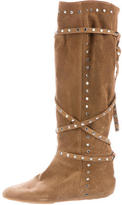 Jimmy Choo Suede Stud-Embellished Boots