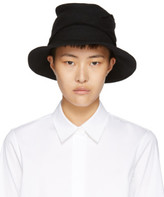 Y's Ys Black Layered Fedora