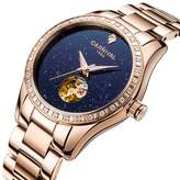 Carnival Women's Automatic Mechanical Female Watch Distinctive Sparkling Stars in the Blue Sky Skeleton Dial